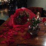 Flowers before dinner