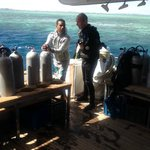 On the dive deck of FunnyDivers