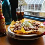 Beef nachos with a view