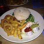 Spicy chicken burger...scrummy!!