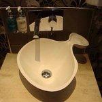 Impressive sink in ladies bathroom!!