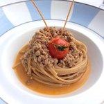 spaghetti con ragu d'anatra