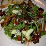 Traditional bacon, gorgonzola salad with lemon dressing