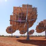 Solar farm up the hill