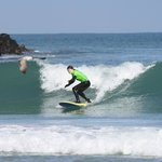 surf lessons at The Escape Surf School
