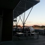 If you sit outside you have a great view of the sun setting over Hillary's Boat Harbour