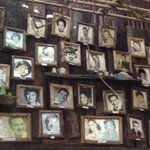 Wall of celebrity picture