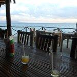 Salle à manger sur la plage