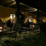 outdoor dining by night