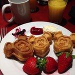 Mickey waffles - Breakfast