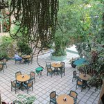 Courtyard, between pool & desk area (El Bambu in background)