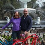 picture of us taken by Dee at Forsyth Park