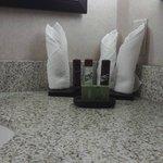 Freebies in bathroom