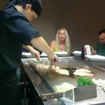 Ulisis at Bano preparing our Hibachi style dinner. Awesome Show! Great food!