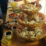 Breakfast buffet, incl. fresh salads, assortment of marmelades