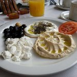 The Lebanese breakfast at the Al-Shami.