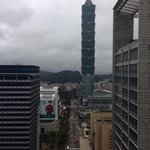 View of Taipei 101 by day from our room at W hotel.
