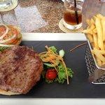 Tasty burger at Luma Bar and Lounge