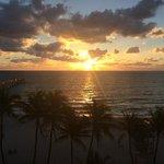 sunrise out my window, beautiful