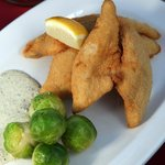 Fried Lake Erie perch from Crosswinds Grille