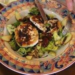 Salade met geitenkas