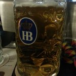 Litre mass of helles goes down easy!