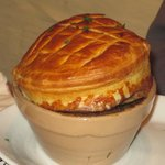 Steak,Guinness & Black pudding puff pastry pie!