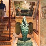 stairwell and Maya decor
