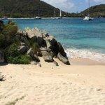 Beautiful relaxing beach on Peter Island