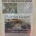 Age UK fish and chip lunch