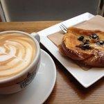 Latte and Bostock slice