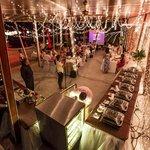 Wedding buffet w Spring roll station!