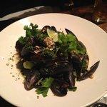 thai basil mussels - really yummy