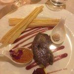 Foie Gras-seared and a sorbet