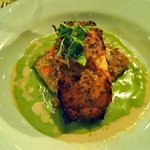 Salmon in Green Curry Sauce