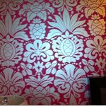 The pineapple wall paper was actually charming. The rest of the room, not so much.