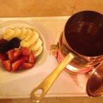 Chocolate and fruit fondue