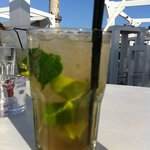 Mojito with actual Cuban rum (yay, Europe!!) and brown sugar