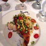 Parmesan crusted flounder