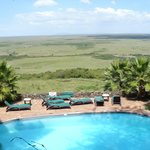 View over pool to Game Reserve