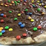 pizza, nutella e smarties!
