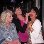 Laughing so hard with good friends, Deb, Jolene at Ricky T's, Feb 21014