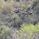 The last zipline is a double so you can race or hold hands!