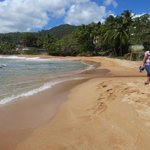 Golden beach down the coast