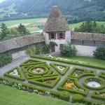 Jardines dentro del castillo
