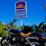 rider friendly, special space to park and clean your iron horse. double rewards points for harle