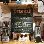 The brew bar showing current selected coffee