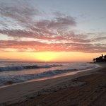 El amanecer desde la playa