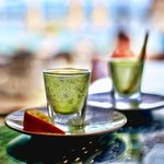 Scallywags Beach Club - Gili Air - Indonesia - The Travel Glow - shots of organic wheatgrass