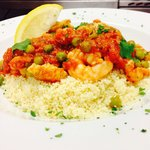Moroccan style chicken & prawn with couscous